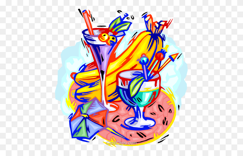 Cool Refreshments Royalty Free Vector Clip Art Illustration - Refreshments Clipart
