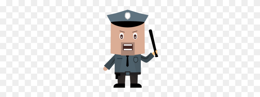 Cop Icon Character Iconset Bevel And Emboss - Cop PNG