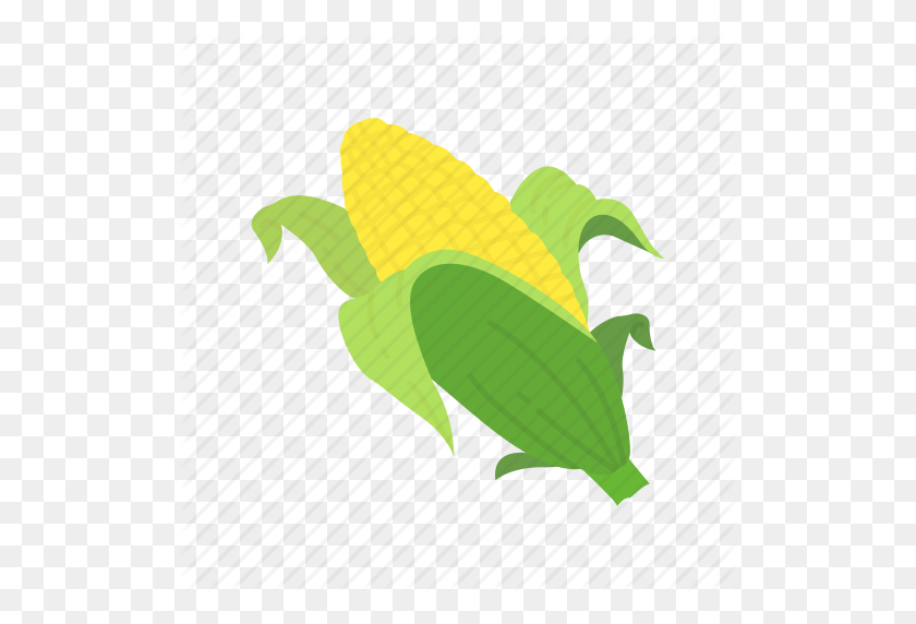 Corn, Corn Husk, Corn On The Cob, Thanksgiving Icon - Corn On The Cob PNG