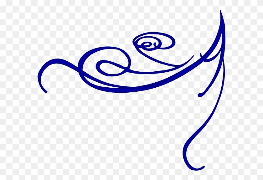 Corner Blue Clip Art - Scroll Patterns Clipart