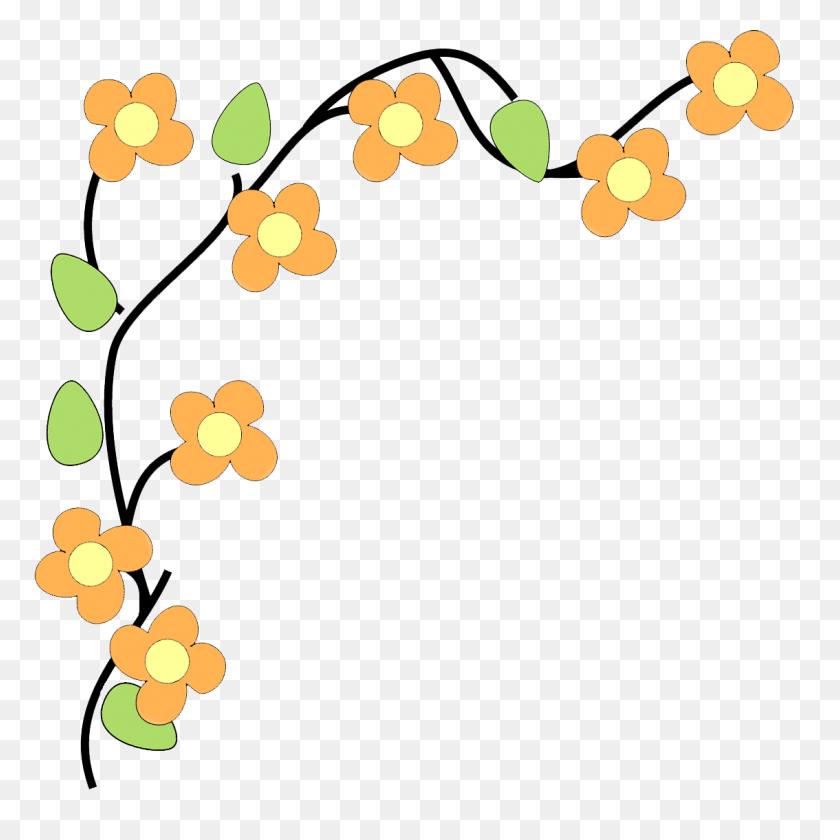 Corner Border Flower Border Flower Corner Clip Art Free Clipart - Free Fire Clipart