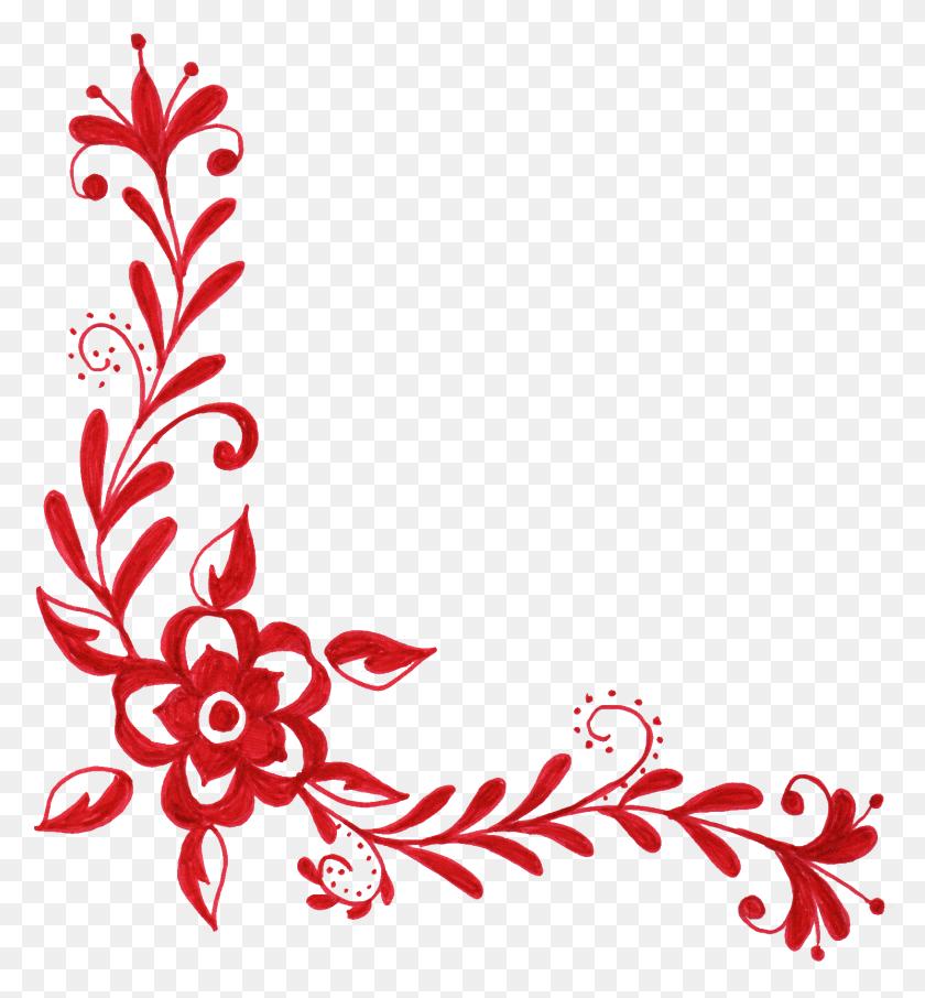 Corner Design Png Transparent Corner Design Images - Flower Design PNG