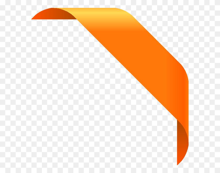 Corner Light Orange Vector Data - Corner Designs PNG