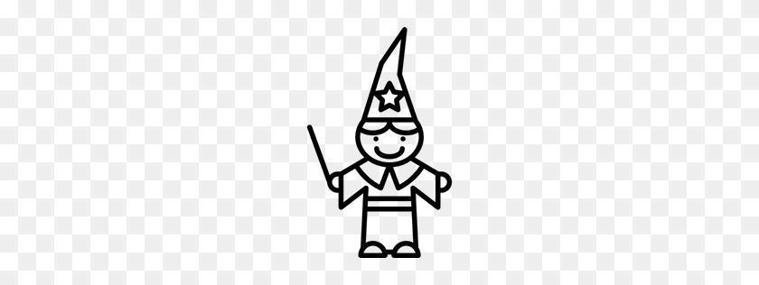 Costume, Boy, Magician, Magic Wand, People Icon - Magic Wand Clipart Black And White