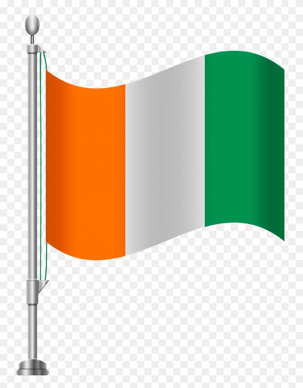 Cote D Ivoire Flag Png Clip Art - D Clipart