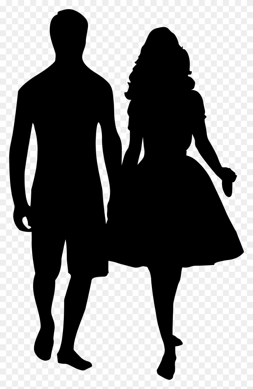Couple Clipart Couple Holding Hand - Hand In Hand Clipart