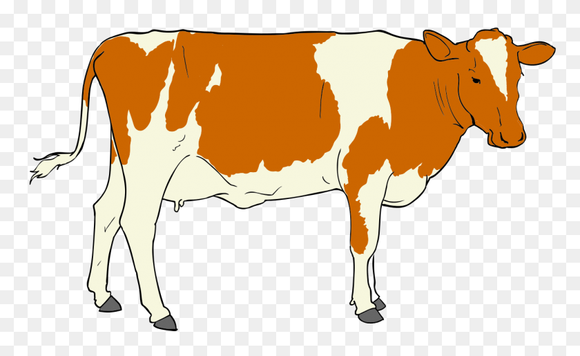 1280x748 Cow Clip Art Holding A Sign - Free Cow Clipart