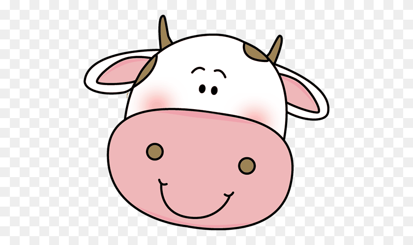 500x438 Cow Face Cliparts Free Download Clip Art - Cow Face Clipart Black And White