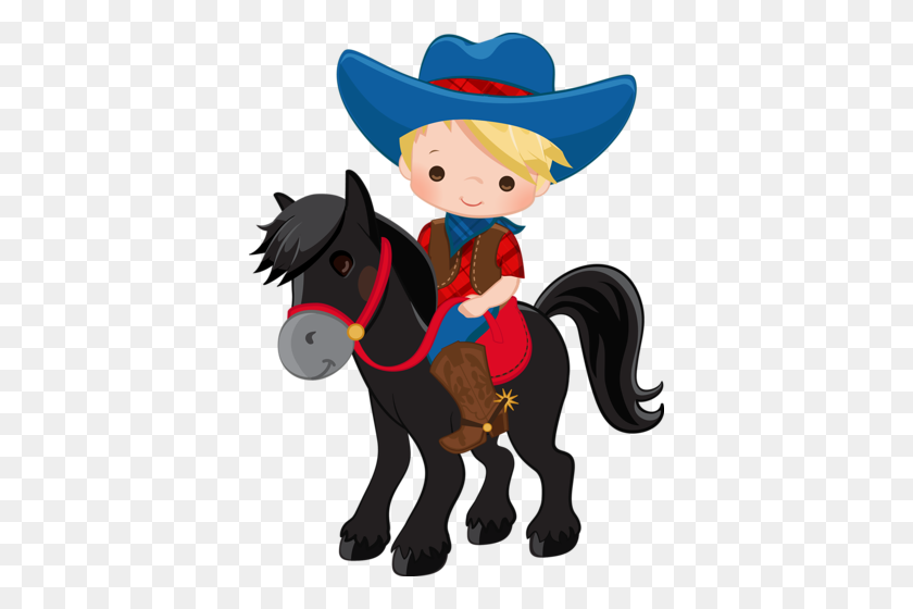 Cowboy E Cowgirl Luggage Tag Clip Art, Cowboy - Cowboy And Cowgirl Clipart