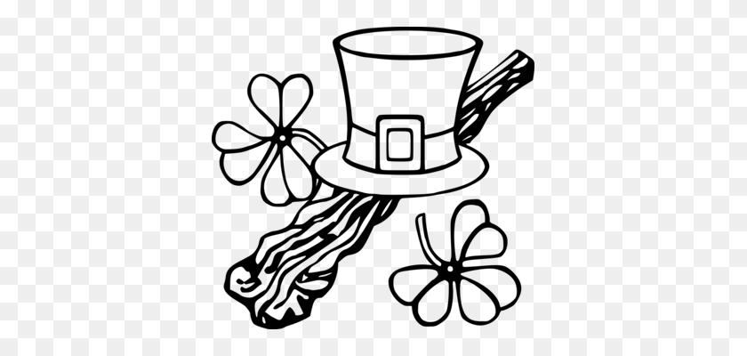 Cowboy Hat Sombrero Cap Top Hat - Leprechaun Clipart Black And White