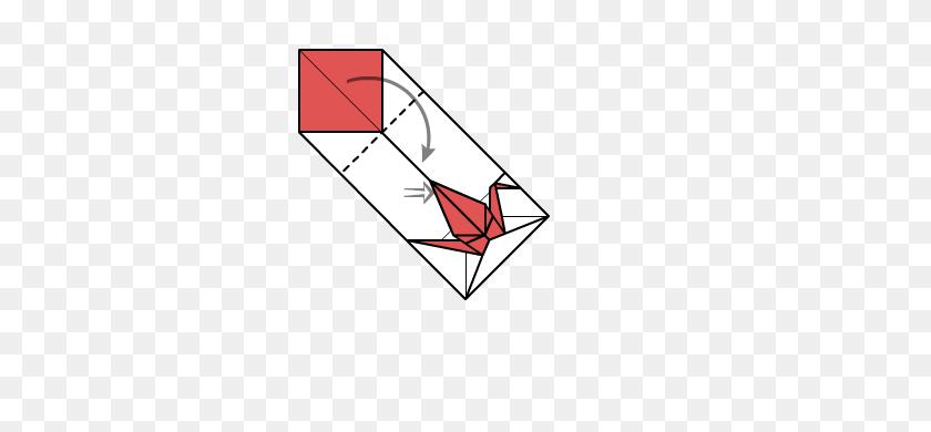 Crane Envelope - Origami Crane Clipart