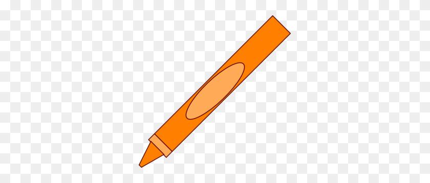Crayon Clip Art - Orange Crayon Clipart