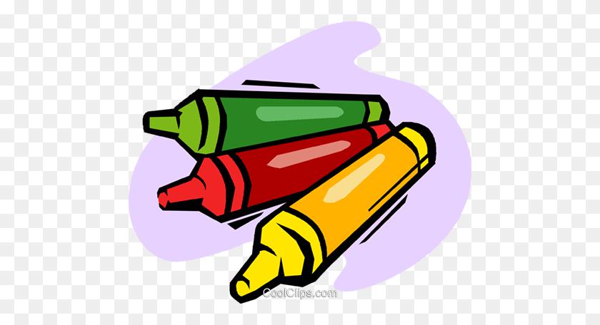 Crayons Royalty Free Vector Clip Art Illustration - Red Crayon Clipart