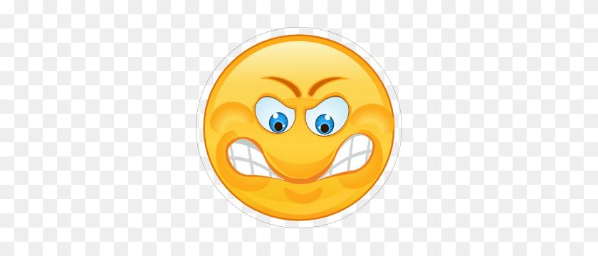 Crazy Angry Grinding Teeth Emoji Sticker - Mad Emoji PNG