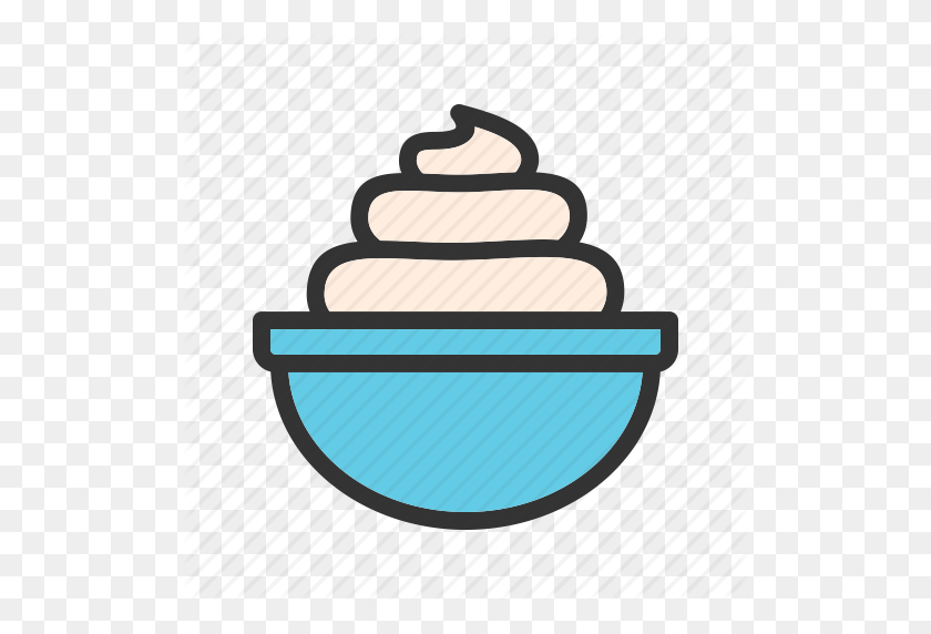 Cream, Foam, Soft, Whip, Whipped, Yoghurt, Yogurt Icon - Whip Clipart