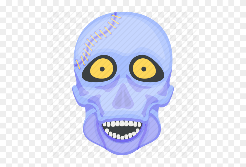 Creepy Skull, Ghost, Halloween Skull, Skull Face, Spooky Skull Icon - Skull Face PNG