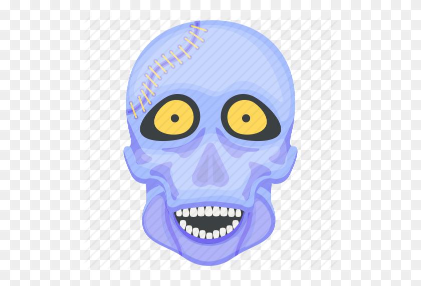 Creepy Skull, Ghost, Halloween Skull, Skull Face, Spooky Skull Icon - Skull Face PNG