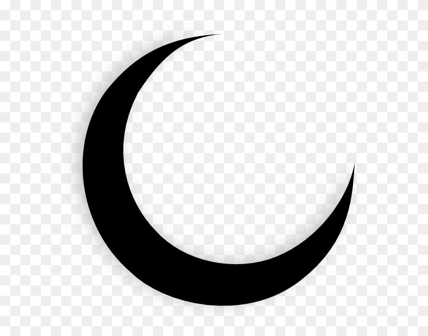 600x599 Crescent Moon Black Clip Art - Moon Black And White Clipart