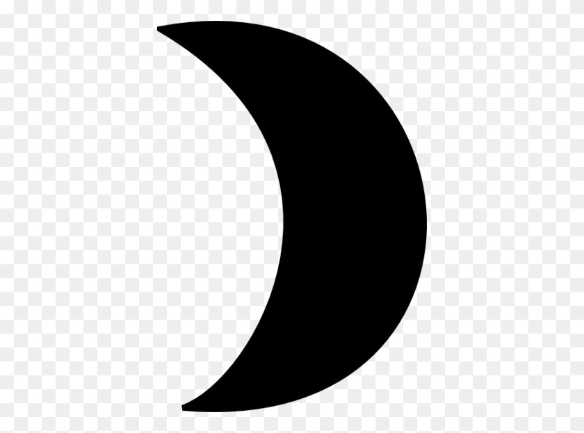 388x563 Crescent Moon Clip Art - Moon Clipart