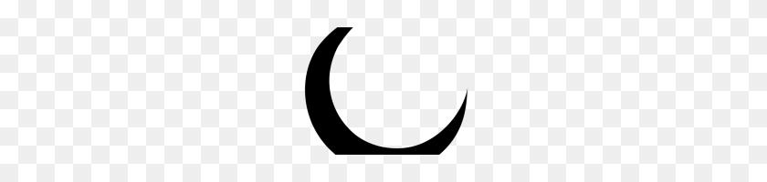 200x140 Crescent Moon Clipart Free Clipart Download - Moon Clipart