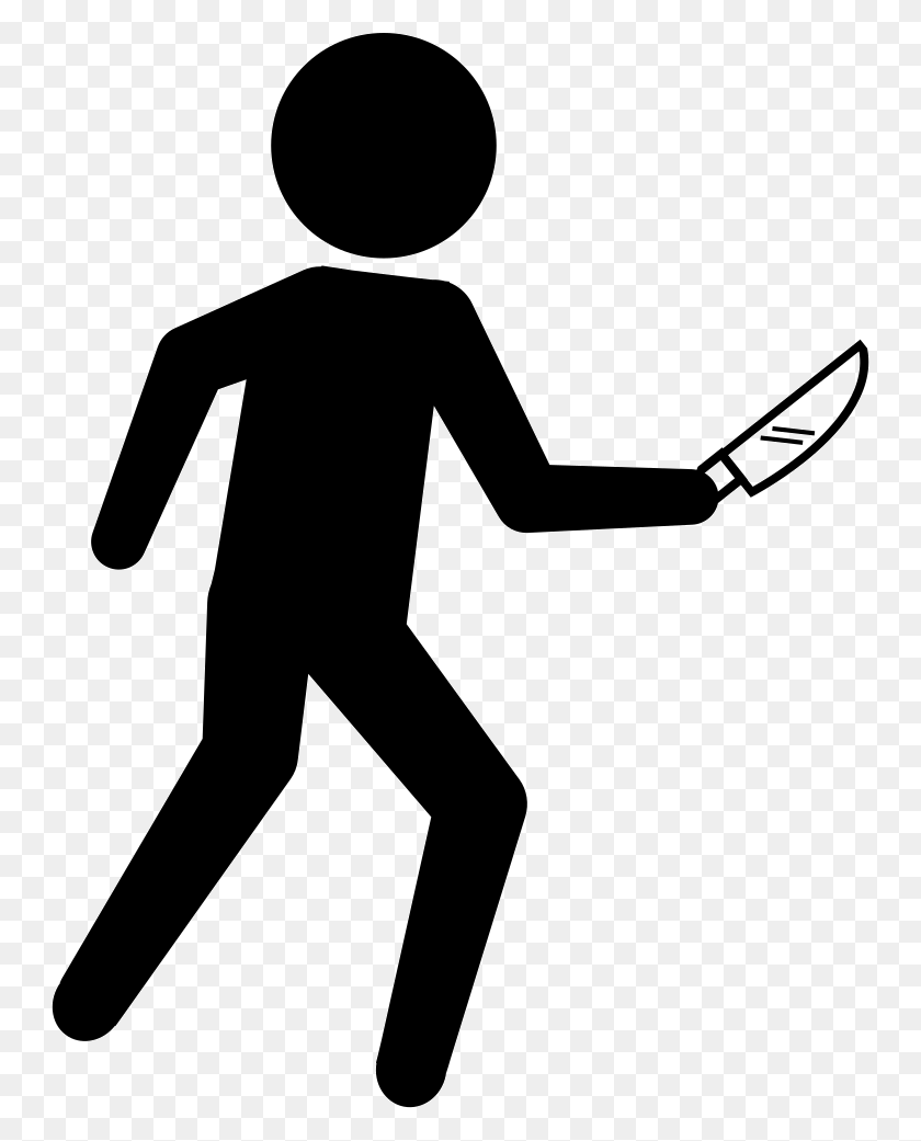 Criminal Silhouette With A Knife Png Icon Free Download - Criminal PNG