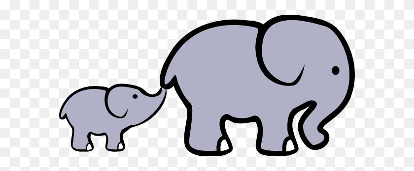 Crippled Elephant Clip Art At Clker Vector Clip Art Online - Mom And Baby Elephant Clipart