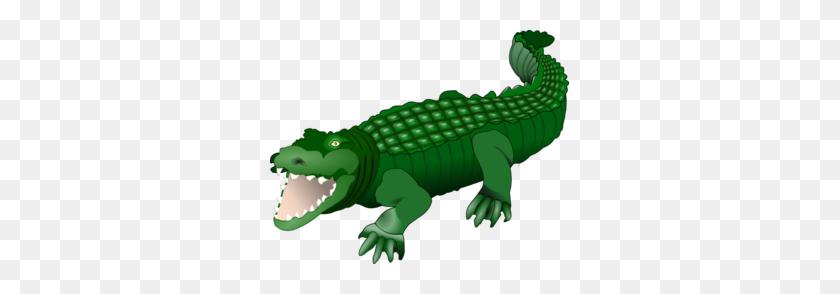 299x234 Croc Clip Art - Crocodile Clipart