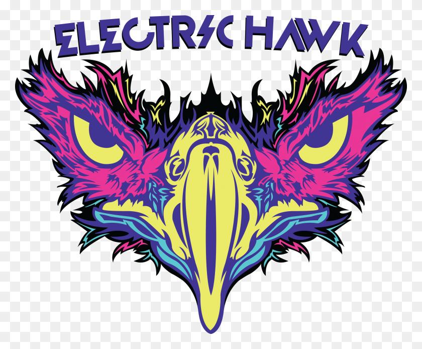 Cropped Electric Hawk Logo The Electric Hawk - Hawk Logo PNG
