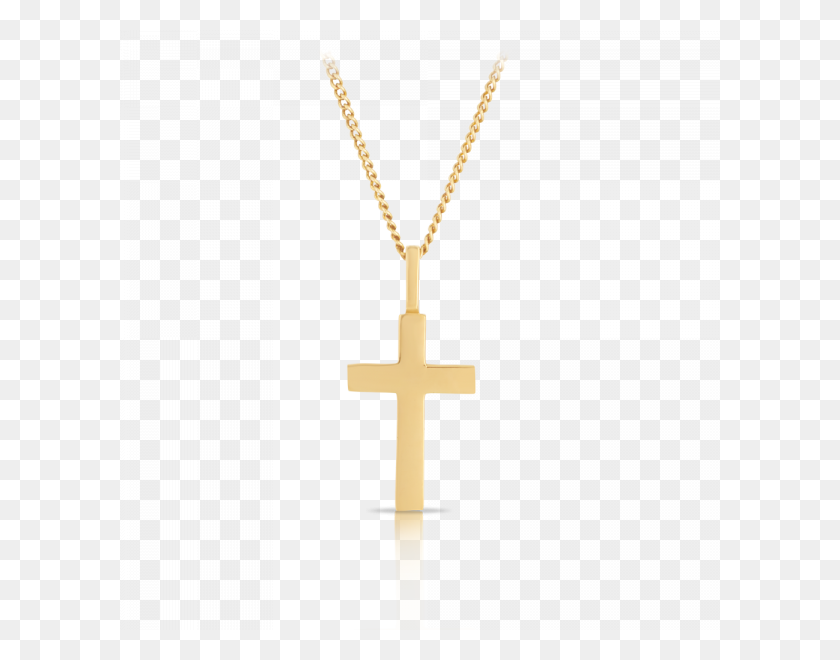 Cross Pendant Made In Yellow Gold - Gold Cross PNG