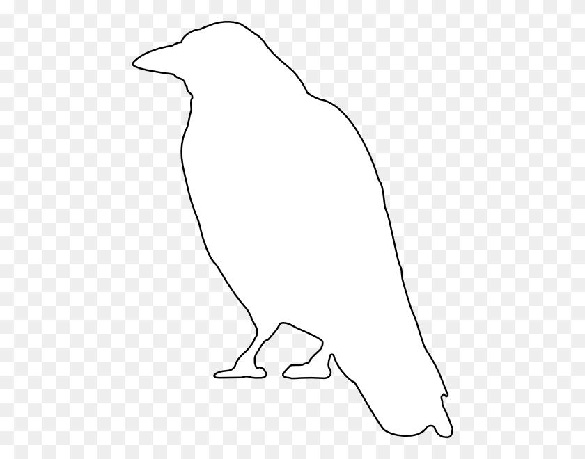 Crow Outline Clip Art - Mockingbird Clipart