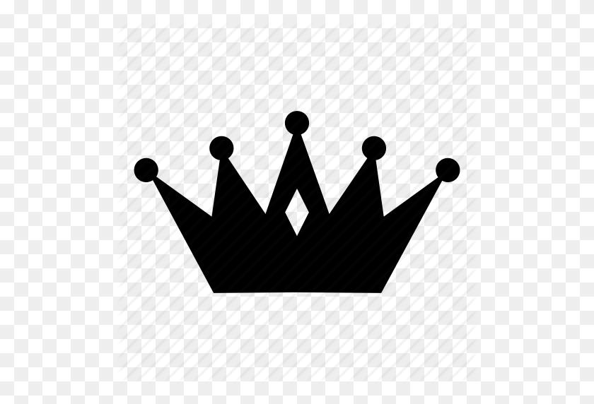 Crown, King, Luxury, Royal Icon - Crown Silhouette Clip Art