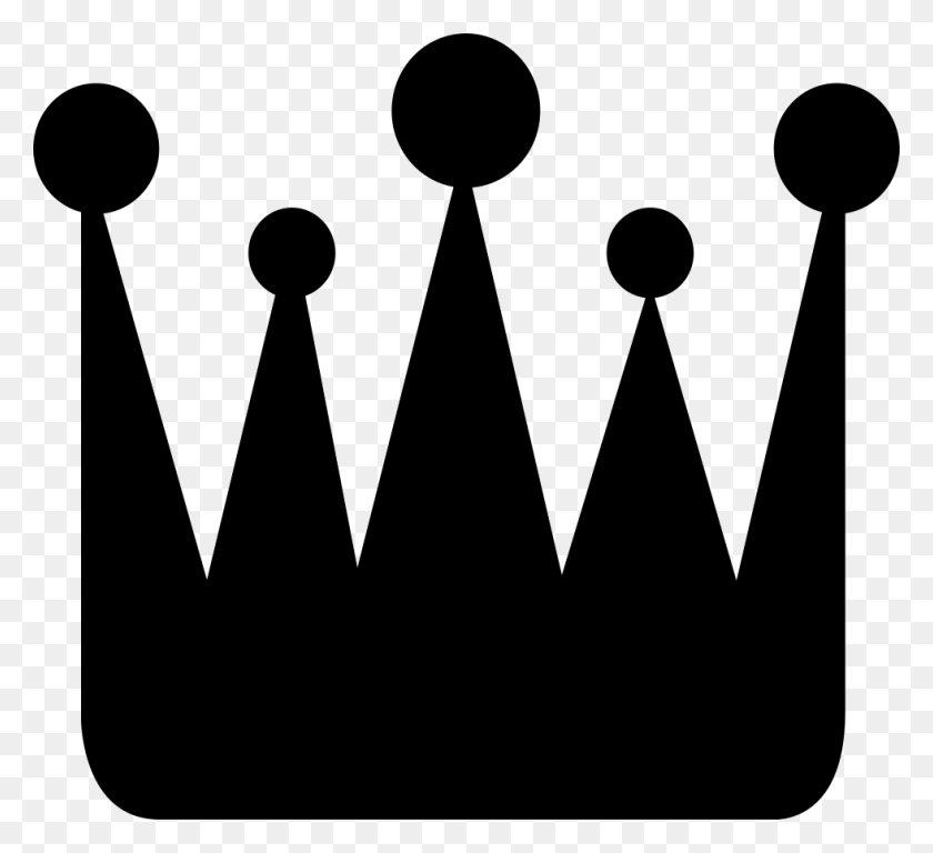 Crown Png Icon Free Download - Crown Silhouette Clip Art