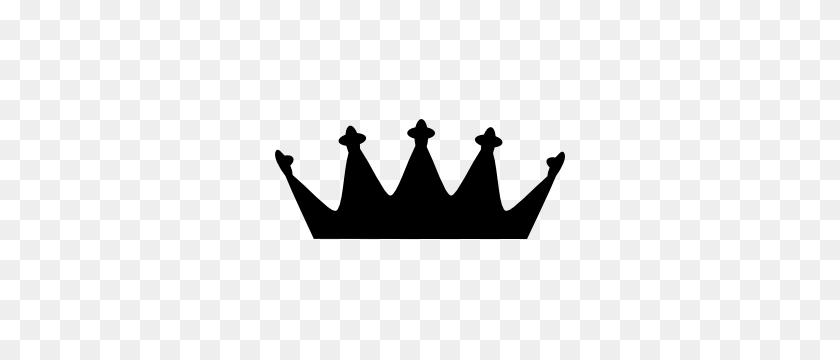 Crown Silhouette Sticker - Crown Silhouette Clip Art