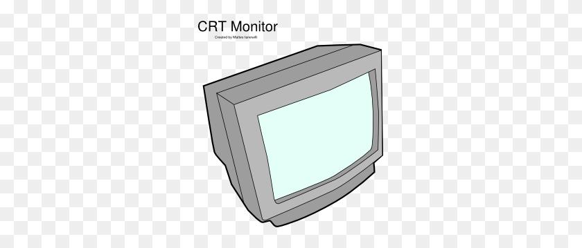 Crt Monitor Clip Art Free Vector - Monitor Clipart