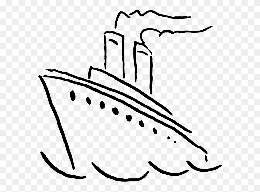Cruise Clipart Ship Line - Magnet Clipart Black And White