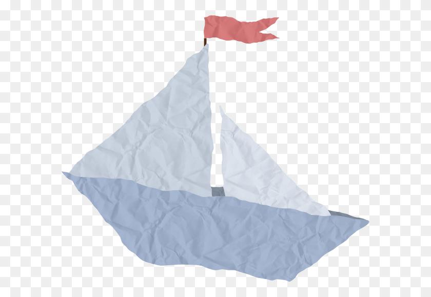 Crumpled Paper Boat Clip Art - Paper Boat PNG