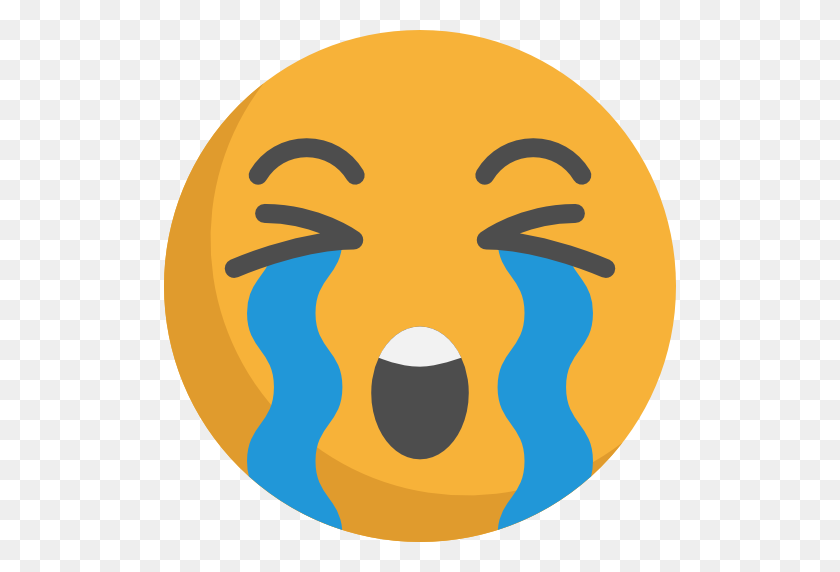 Crying Emoji Png, Loudly Crying Face Emoji On Emojione - Crying Emoji PNG