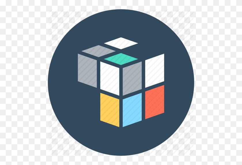 Cube, Cubic, Graphic, Puzzle Cube, Rubik's Cube Icon - Rubix Cube PNG