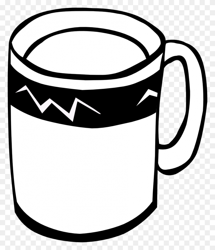 850x1000 Cup Clipart Black And White Clip Art Images - Free Coffee Cup Clipart