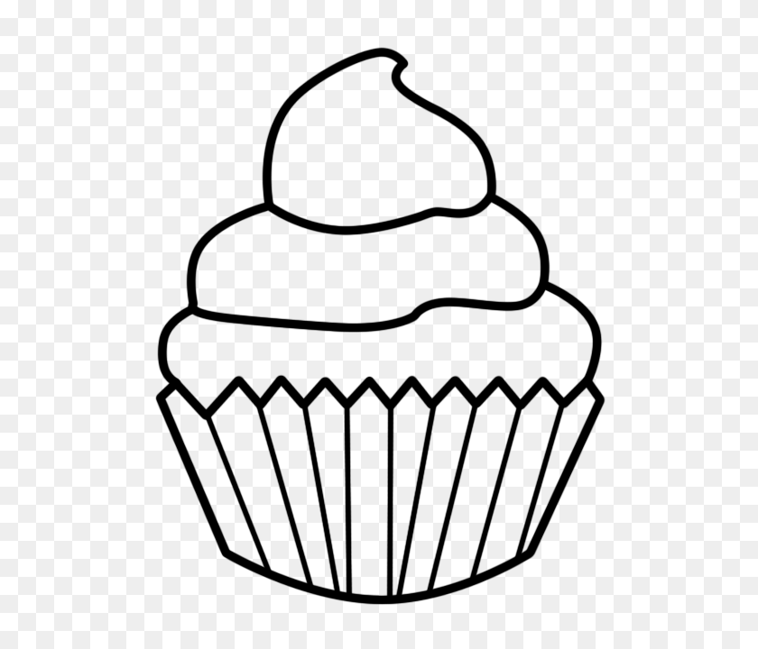 Cupcake Black And White Cupcake Outline Clipart Black And White - Pencil Outline Clipart