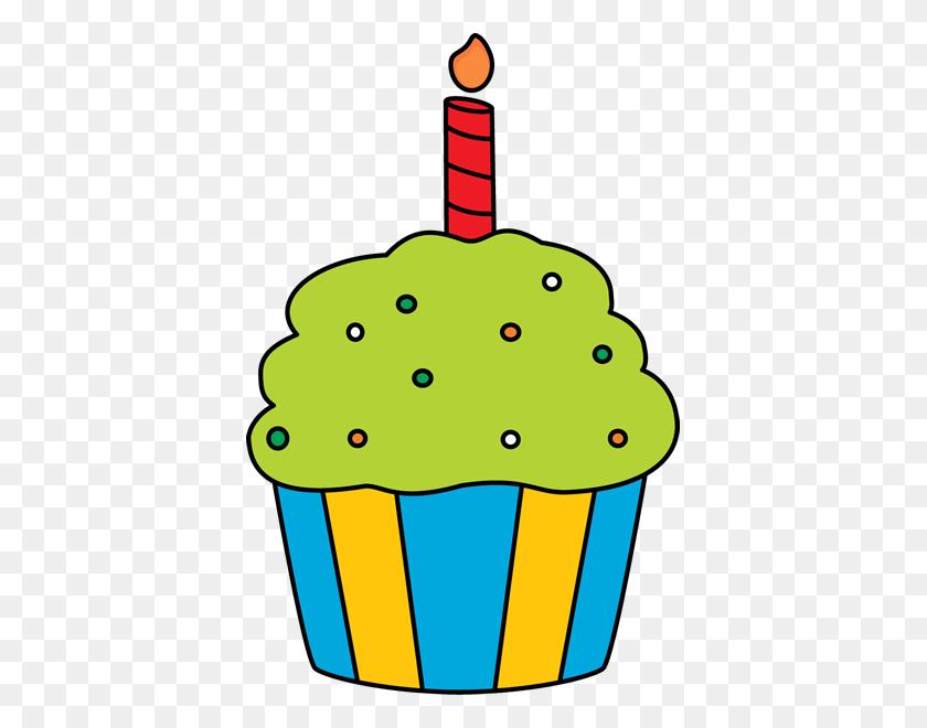 393x600 Cupcake Clip Art - Months Clipart