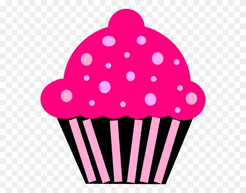 Cupcake Pink Black Clip Art - Cupcake Images Clipart