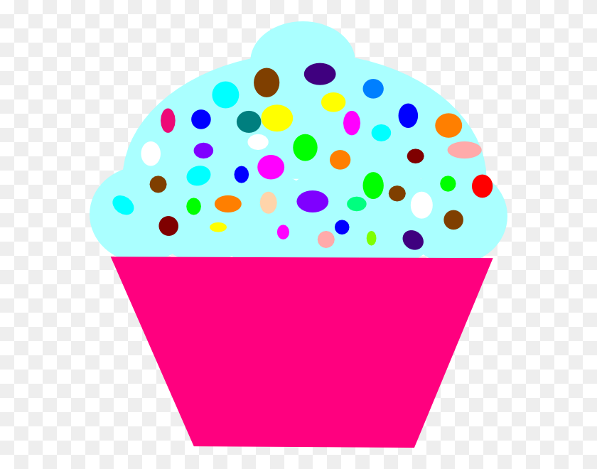 Cupcake Pink Clip Art - Pink Cupcake Clipart