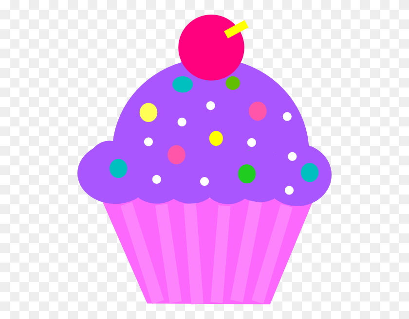 Cupcake Purple And Pink Clip Art - Pink Cupcake Clipart