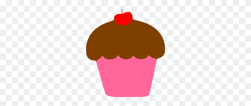 Cupcake With Cherry Clip Art - Pink Cupcake Clipart