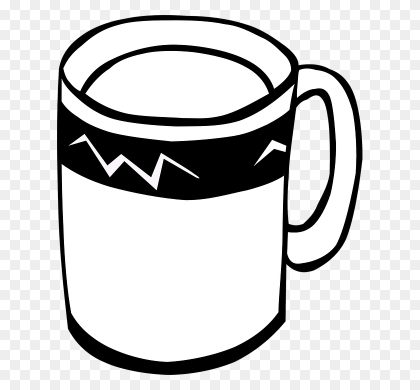 Cups Png Black And White Transparent Cups Black And White - Sap Clipart