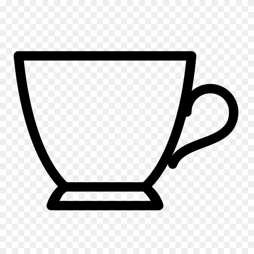 Cups Png Black And White Transparent Cups Black And White - Tea Cup Clipart Black And White