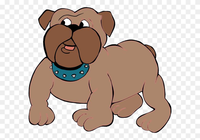 Curious Bulldog Cartoon Clip Art - Curious Clipart