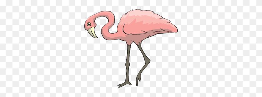 Curious Flamingo Clip Art - Curious Clipart