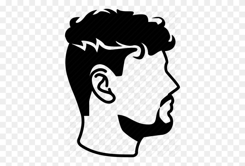 Curly, Hair, Haircut, Male, Mens, Perm, Undercut Icon - Mens Hair PNG